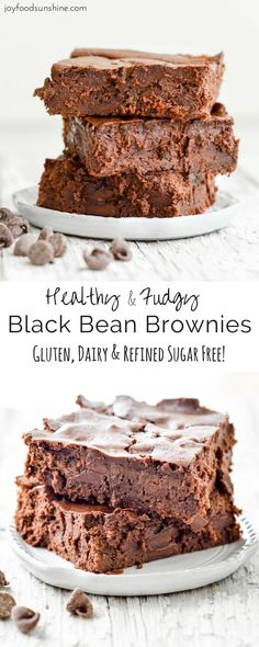 Black Bean Brownie Recipe! Dairy-free, gluten-free and no refined sugar. Ready in 35 minutes and delicious straight from the oven. A perfect healthy dessert!