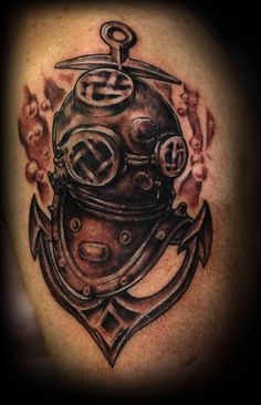Divers Helmet and Anchor | Flickr - Photo Sharing!