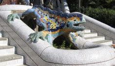 Salamandra w Parku Güell - Hiszpania, Barcelona