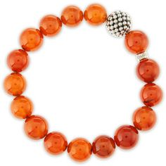 Lagos Women's 10mm Caviar-Ball Garnet Beaded Stretch Bracelet #prom bracelets