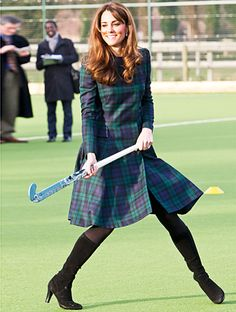 Catherine, Duchess of Cambridge not only marries in McQueen, she plays field hockey in it, too! http://news.instyle.com/2012/11/30/kate-middleton-alexander-mcqueen-coat/