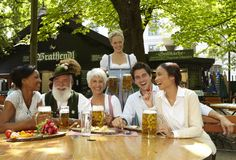 There is no better end to a summer's day than to sit with family and friends at long wooden tables shaded by century-old chestnut trees, enjoying a big stein of Bavarian beer fresh from the brewery.Munich is home to 180 beer gardens, and some of them are among the largest in the world.  #Munich #Beer #Travel