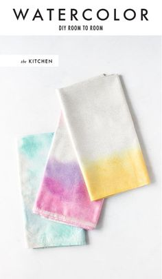 DIY watercolor napkins by Brittni of Paper and Stitch