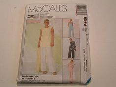 McCalls Pattern 9270 Miss Tunics Pull on Pants Scarf