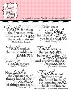 Sweet 'n Sassy Stamps LLC - Faith Clear Stamp Set, $11.00 (http://www.sweetnsassystamps.com/faith-clear-stamp-set/)