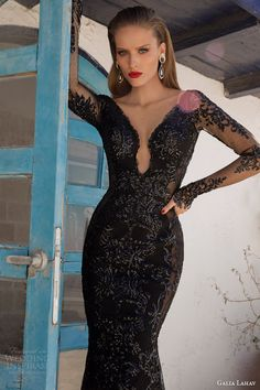 galia lahav couture 2014 moonstruck saturn evening gown black wedding dress