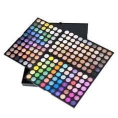 Treat your makeup like jewelry for the face. Play with colors, shapes, structure - It can transform you!  Get your 180 color Eye Shadow Palette for only $36 at www.OneGlobalMall.com