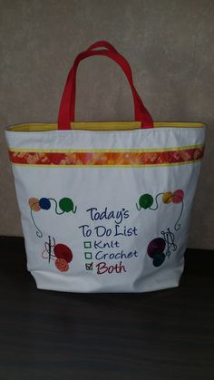 Knitting bag-front view