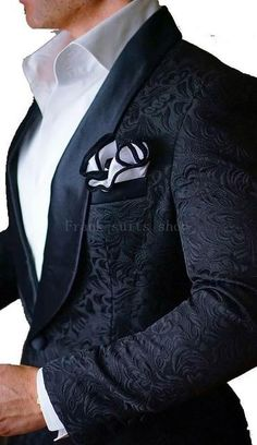 New Arrival Mens Suits Ivory 2019 jacquard Groom Tuxedos Shawl Lapel Men Suits Wedding suits ( jacket+Pants)