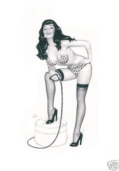 Original Scott Pike Betty Page Smoking Whip Pin Up MOP | eBay