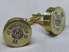 Shotgun Shell Cufflinks Winchester AA 12 Ga by EverythingBullets
