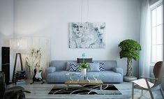 How To Do The Sitting Room Decor - Modern Home Decor , , Salon Sofa Decoration Salon Sofa Decoration Living Room Salon Sofa Decoration House design living room most favorite place is located. The design of t. Home Decor Bedroom, Decor, Living Room Decor Gray, Light Blue Couches, Living Room Designs, Living Room Grey, Living Room Art, Room Decor, Grey Home Decor
