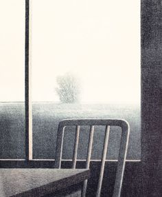 "Robert Kipniss ""Back Porch"" Color lithograph 1972"