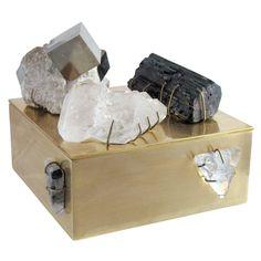 Pyrite Matrix Bauble Box by Kelly Wearstler