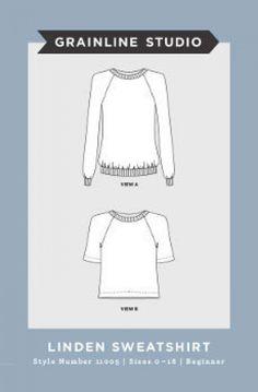 Grainline Studio Ladies Easy Sewing Pattern 11005 Linden Sweatshirt   Sewing   Patterns   Minerva Crafts