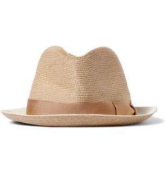 Borsalino Two-Tone Woven-Hemp Trilby Hat