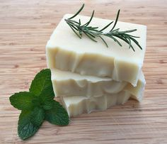 Learn how to make your own homemade rosemary mint shampoo bars with a recipe from The Nerdy Farm Wife's Natural Soap Making eBook!