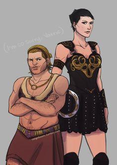 Варрик Тетрас,DA персонажи,Dragon Age,фэндомы,Кассандра Пентагаст,Зена,crossover