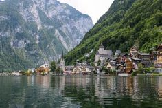 Hallstatt, Austria: A shockingly beautiful lake village nestled in the Alps, Hallstatt is a true definition of European charm. Boating on the Hallstatt Lake is most scenic boat ride I've ever had and bucket list worthy for every traveler. Places Around The World, Oh The Places You'll Go, Places To Travel, Places To Visit, European Vacation, European Travel, Vacation Spots, European Trips, Destinations