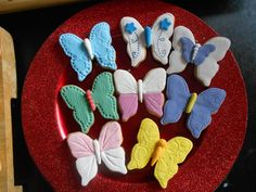 Galletas mariposas (Fondant)
