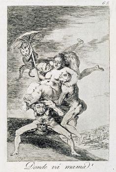 """""""Los Caprichos"""" de Goya - 1799"""