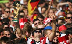 Germany celebrate after World Cup 2014