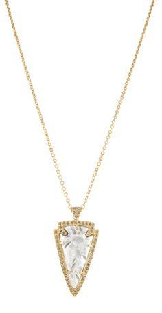 SMALL GOLD DEMETER ARROWHEAD NECKLACE – Tat2 Designs