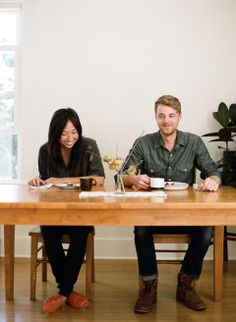 James Fitzgerald III & Joy Sunyoung Fitzgerald / By Parker Fitzgerald for The Kinfolk Table