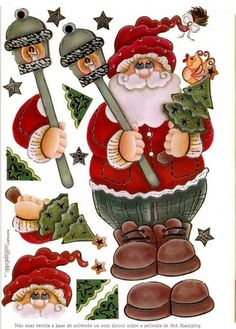 decoupage sheets 3d photo: Santa 3D Sheet PapaNoel.jpg