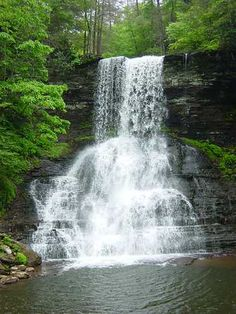 Cascades waterfall, Pembroke, VA--my favorite hike in VA. I never get tired of going there.