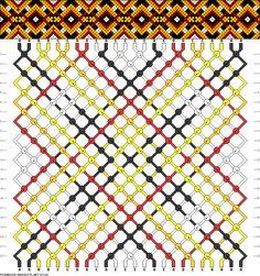 Muster # 47324, Streicher: 24 Zeilen: 22 Farben: 5