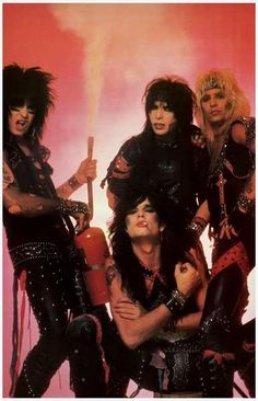 "A great Motley Crue band poster! Vince Neil, Tommy Lee, Mick Mars, and Nikki Sixx in their heyday with ""Looks That Kill""! Check out the rest of our awesome selection of Motley Crue posters! Need Poster Mounts. Girls Girls Girls, Glam Metal, Tommy Lee, Steven Tyler, Nikki Sixx, Aerosmith, Glam Rock, Motley Crue Poster, Heavy Metal"