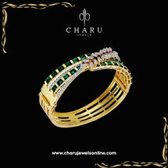 Bewitched Diamond Gold Bracelet Sure to add an instant glamour to your hand, the Bewitched diamond studded gold bracelet is one of the biggest on-trend piece. #diamond  #floral #designing #combination #jewelery  #fashion #jewelery #party #wear #daily #use  #charu #jewels www.charujewelsonline.com