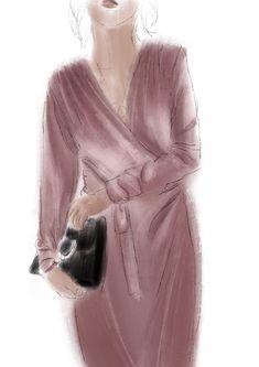 #drawing #dress #color #velvet #artwork #sketch #illustration #fashion #design #graphic #beauty #violet #fashionillustration