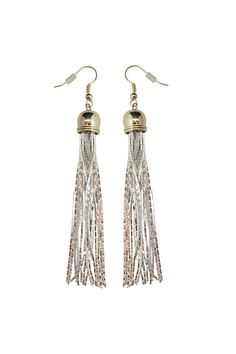 Simple statement makers - these earrings add the perfect edge to your look. Drop earrings with liquid copper chain fringing finished on a fish hook backing.    Liquid Earrings by Black Rooster Decor . Accessories - Jewelry - Earrings Toronto, Canada