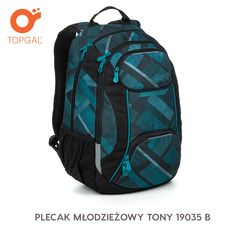 Dwukomorowy plecak dla młodzieży powyżej 150 cm wzrostu.
