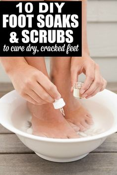 If you suffer from dry, cracked heels like I do, this collection of 10 DIY foot scrubs and DIY foot soaks is just what you need to make your feet look, feel, and smell beautiful in time for sandal season.