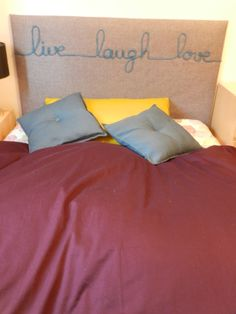 DIY headboard bed tete de lit