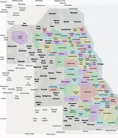 Chicago is a city of neighborhoods This map is a beautiful