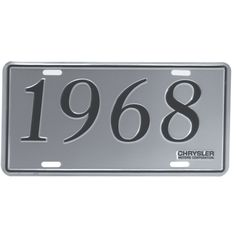 chrysler license plate 1968 dodge models reproduction