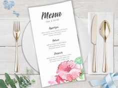 Your place to buy and sell all things handmade Printable Menu, Printable Wedding Invitations, Wedding Invitation Suite, Wedding Stationery, Wedding Menu, Wedding Suits, Floral Wedding, Wedding Cards, Wedding Ideas