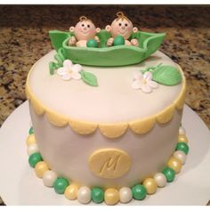 Two peas in a pod cake!