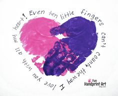 This heart handprint plus poem craft makes the perfect Valentine's Day gift idea!