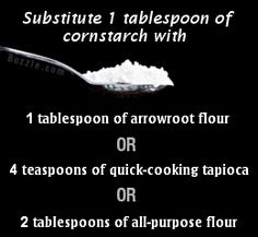 Three substitutes for cornstarch