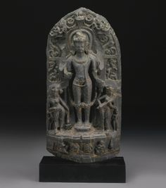 A PHYLLITE STELE DEPICTING VISHNU<br /> Eastern India, Pala period, 12th Century | Lot | Sotheby's