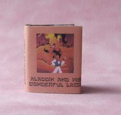 Dolls House Miniature Aladdin Book - Over 10,000 other miniature dollshouse items in stock! Visit www.thedollshousestore.co.uk