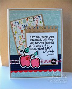 Card by Marisa Ritzen using Teachers Count from Verve Stamps.  #vervestamps