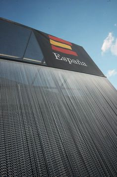 Facade cladding in aluminium anodized chain #events #architecture