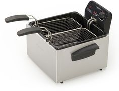 5 Liter Dual Basket ProFry Deep Fryer - Stainless Steel