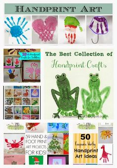 Some of the Best Things in Life are Mistakes: The Best Collection of Handprint Crafts Rainy Day Activities, Craft Activities For Kids, Preschool Crafts, Preschool Themes, Arts And Crafts Projects, Crafts To Do, Crafts For Kids, Baby Crafts, Hand Prints